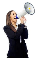 megaphone woman