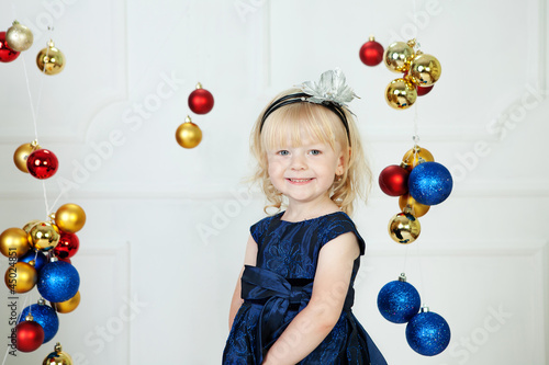Girl at Christmas time at studio
