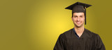 Young Man In Graduation Gown