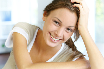 Portrait of beautiful smiling woman
