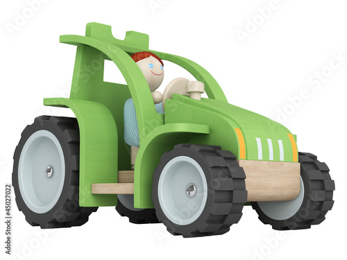 Toy farmer with his tractor