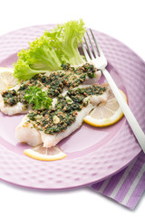 cod fillet with parsley anchovy and capers