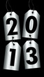 4 Silver Hangtags 2013 Black Background