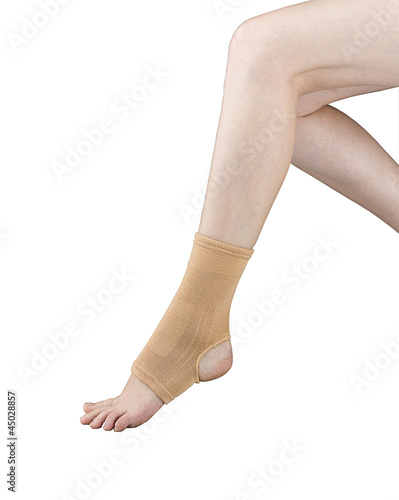Ankle support or ankle sprain for soft exercise