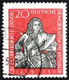 Postage stamp GDR 1959 George Frederick Handel, Composer poster