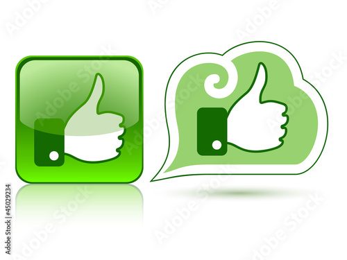 Web icons with thumb up 2