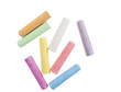 chalks in a variety of colors arranged