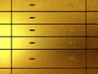 Safe deposit boxes made of gold