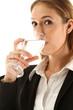 Geschäfftsfrau trinkt