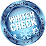 "Button ""Wintercheck"" blau"