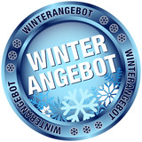 "Button ""Winterangebot"" blau"
