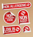 Non allergenic products stickers