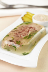 Beef tongue aspic