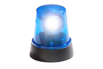 Blaulicht leuchtend