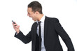 businessman screaming at Phone