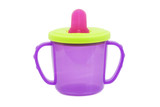 Multi colored	baby cup- bottle