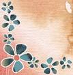 kartka dekoracyjna z kwiatami
