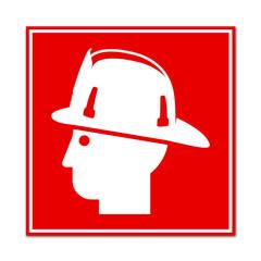 Señal simbolo bombero