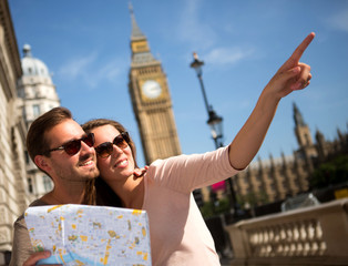 Summer tourists in London