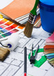 Paints, brushes and accessories for repair
