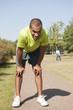 Sport au parc - Homme essoufflé