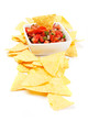 Mexican nachos corn chips with salsa