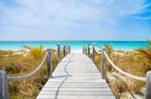 Poster Caraïben Caribbean beach