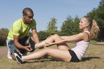 Sport au parc - blessure à la cheville