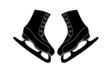 A pair of skates for figure skating. Vector icon
