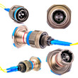 Leinwanddruck Bild - Connector for fiber optic cable