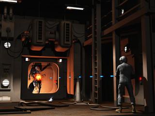 Scifi firefight