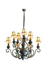 Vintage chandelier with clipping path