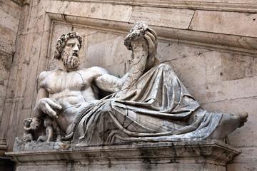 Statue representing the Tiber River