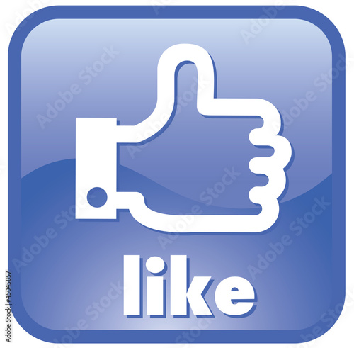 Thumbs up button icon    like button icon