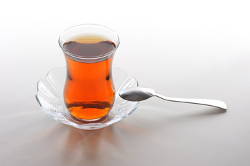 Turkish Tea and special glass-Türk Çayı