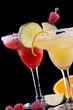 Orange and Raspberry margaritas  - Most popular cocktails series