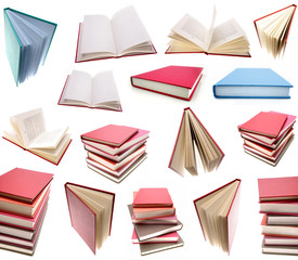 Books isolated on plain background