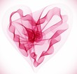 Beautiful Valentine's background with abstract pink heart