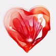 Beautiful Valentine's background with abstract red heart