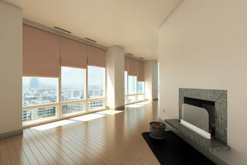 Neubau-Apartment mit offenem Kamin
