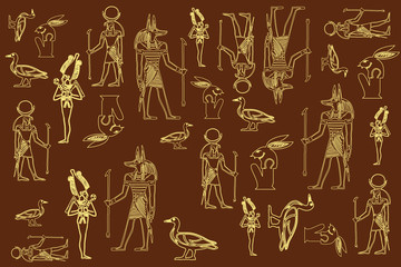 elements of the Egyptian illustration