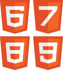 HTML 6, 7, 8, 9 Concept signs