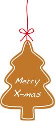 merry x-mas cookie