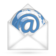 Email World Web Icon