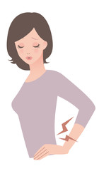 女性 / 腰痛 / 症状