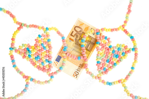 Candy lingerie with money