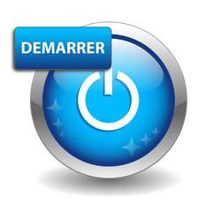 """Bouton Web """"DEMARRER"""" (démarrage cliquer ici go connexion start)"""