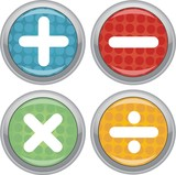 mathematical operations buttons