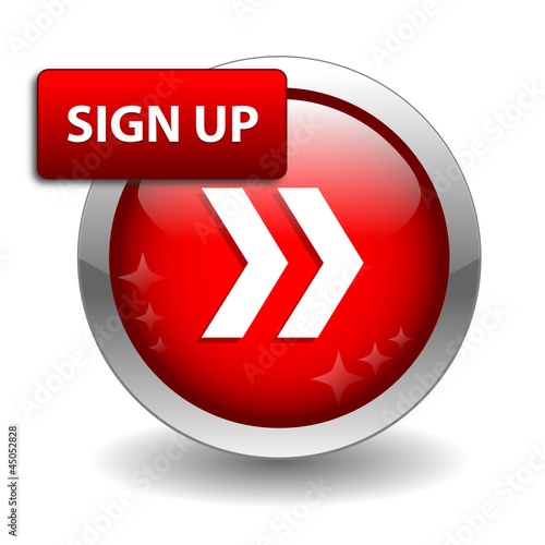 """SIGN UP"" Web Button (register subscribe join click here free)"
