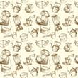 kitchen utensils, kitchenware seamless wallpaper